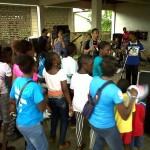 Enthousaiste jongeren tijdens de Gospel happening bij Mars voor Jezus