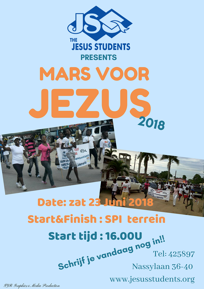 March for Jesus 2018 bekendmaking